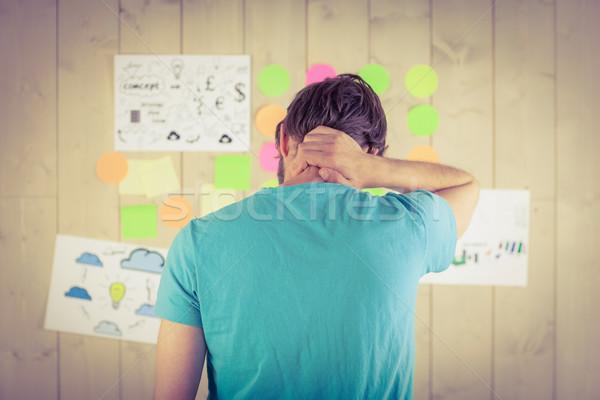 случайный работник глядя стены служба Сток-фото © wavebreak_media