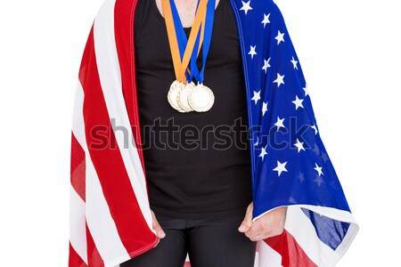 Composite image of athlete with olympic gold medal Stock photo © wavebreak_media