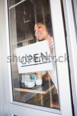женщину питьевой белое вино ресторан Сток-фото © wavebreak_media