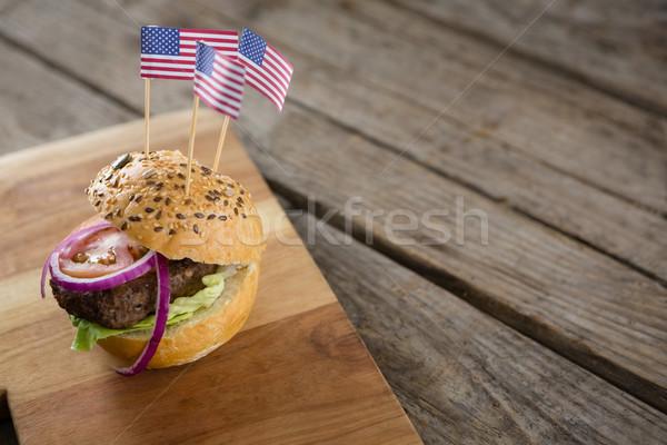 Ver burger bandeira americana servido Foto stock © wavebreak_media