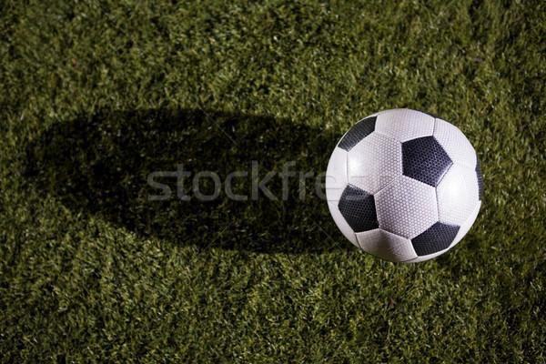 Magasról fotózva kilátás futballabda játszik mező égbolt Stock fotó © wavebreak_media