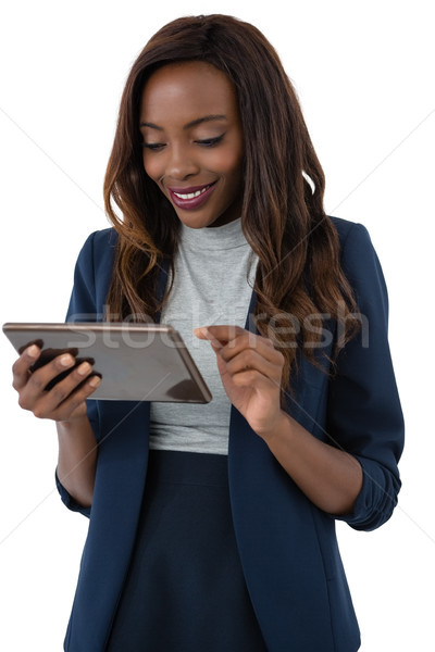 счастливым деловая женщина Постоянный белый женщину Сток-фото © wavebreak_media