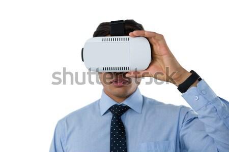улыбаясь бизнесмен очки белый человека костюм Сток-фото © wavebreak_media
