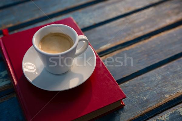 çay kitap ahşap masa ahşap tablo Stok fotoğraf © wavebreak_media