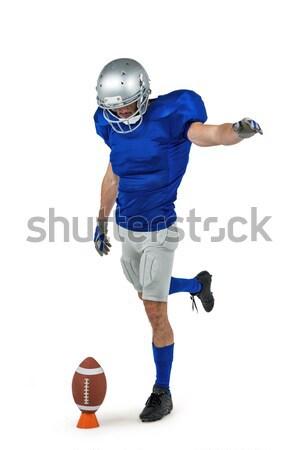 American football player kicking ball Stock photo © wavebreak_media