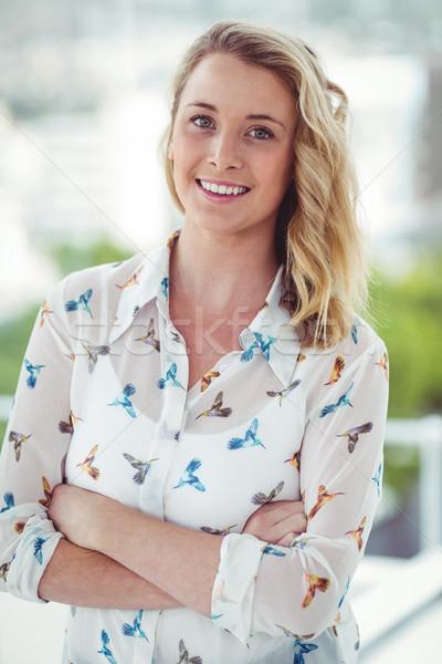 Sorridere donna d'affari casuale ufficio donna felice Foto d'archivio © wavebreak_media