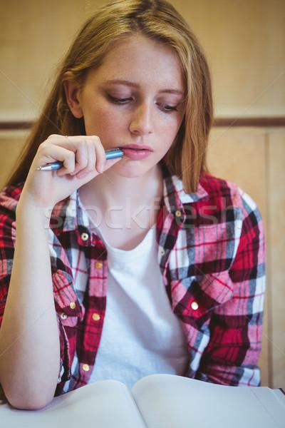 Focused student studying on notebook Stock photo © wavebreak_media