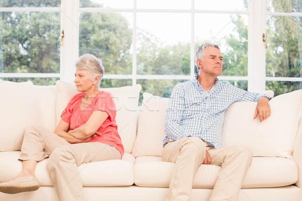 Senior couple not speaking after an argument Stock photo © wavebreak_media