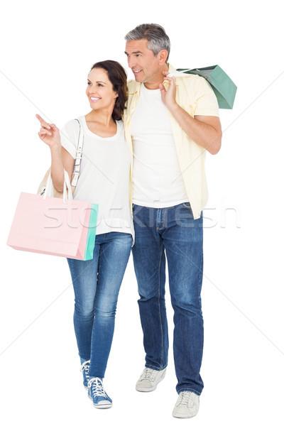 Coppia bianco donna uomo bag Foto d'archivio © wavebreak_media