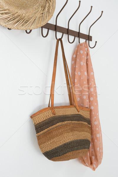 Hat сумку шарф подвесной крюк Сток-фото © wavebreak_media