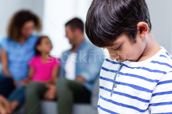 Primo piano sconvolto ragazzo famiglia casa ragazza Foto d'archivio © wavebreak_media
