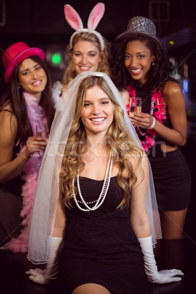 Arkadaşlar parti gece kulübü kadın mutlu Stok fotoğraf © wavebreak_media