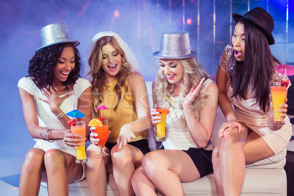 Girls celebrating bachelorette party Stock photo © wavebreak_media