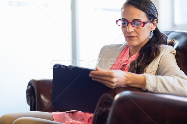 Concentrated psychologist woman Stock photo © wavebreak_media