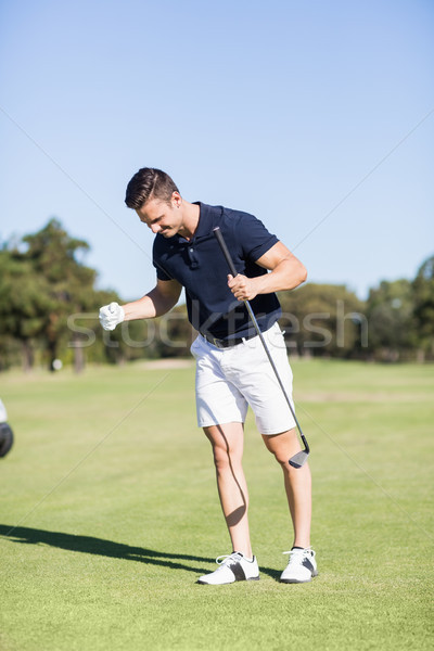 Golfer clenching fists Stock photo © wavebreak_media