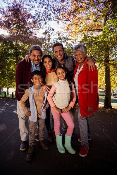 Full length of multi-generation family standing at park Stock photo © wavebreak_media