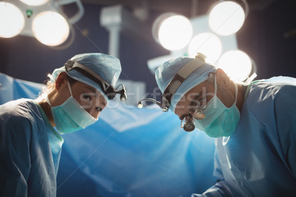 Stock photo: Portrait of surgeons in operation room