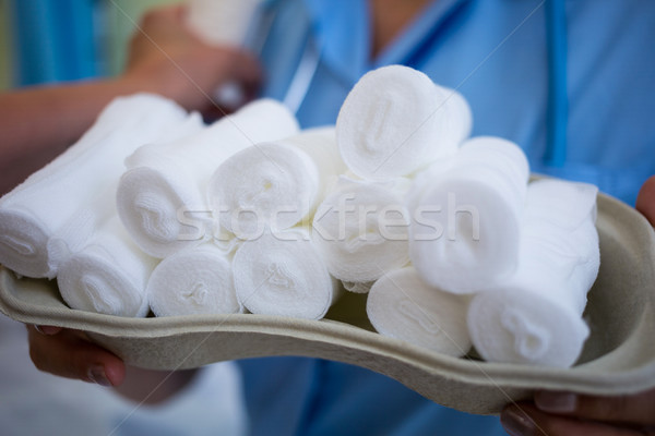 Nurse holding a tray of bandage Stock photo © wavebreak_media