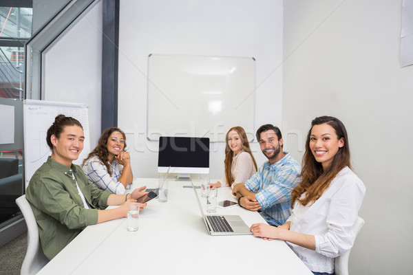Portré mosolyog igazgató konferenciaterem megbeszélés iroda Stock fotó © wavebreak_media