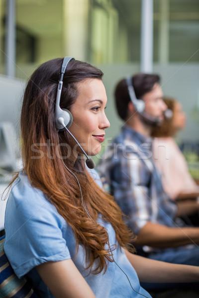 笑みを浮かべて 女性 顧客サービス 執行 話し ヘッド ストックフォト © wavebreak_media