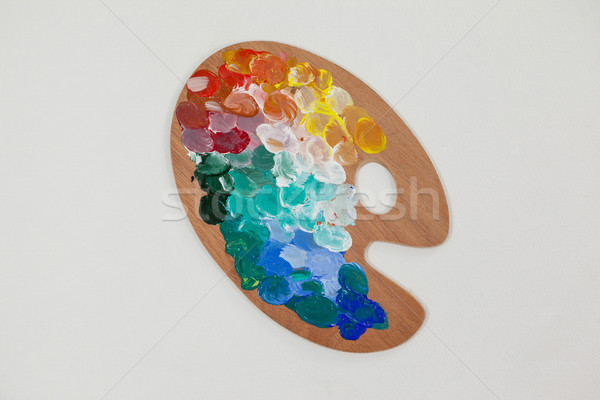 Paint palette with multiple colors Stock photo © wavebreak_media