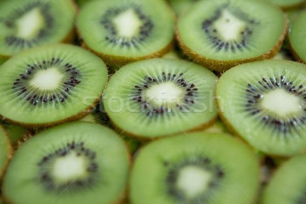 Full frame kiwi szeletek gyümölcs zöld reggeli Stock fotó © wavebreak_media