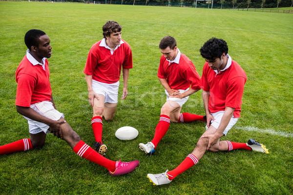 Rugby jugadores hasta partido parque mundo Foto stock © wavebreak_media