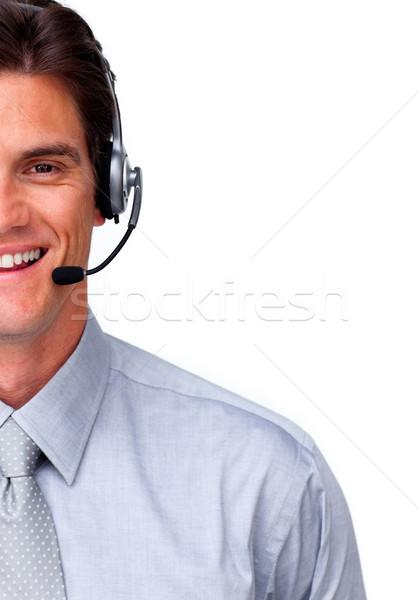 微笑 顧客服務 代表 耳機 白 業務 商業照片 © wavebreak_media