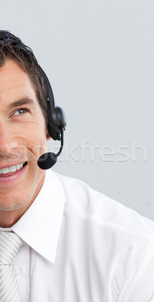 Portrait of a businessman with a headset on Stock photo © wavebreak_media