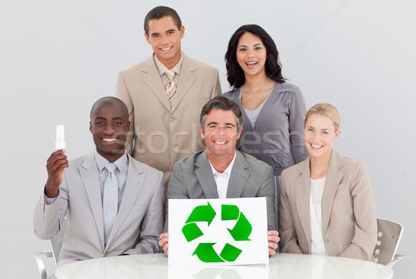 Goede milieu kantoor vergadering business papier Stockfoto © wavebreak_media