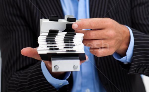 Close-up of a businessman holding a card holder Stock photo © wavebreak_media