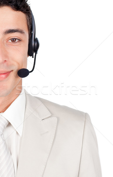 Assertive businessman with headset on  Stock photo © wavebreak_media