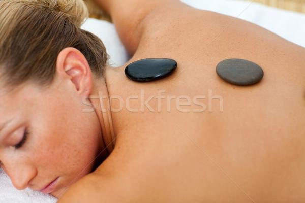 Asleep woman getting spa treatment Stock photo © wavebreak_media