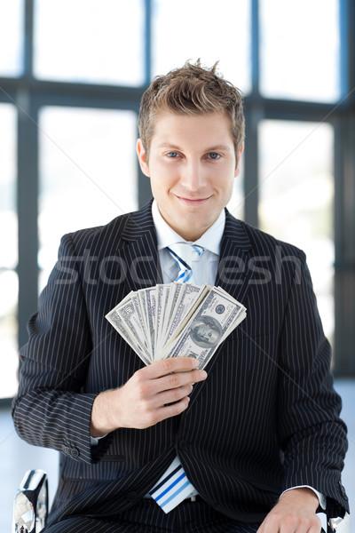 çekici genç işadamı dolar ofis Stok fotoğraf © wavebreak_media