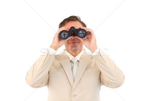 Portret volwassen zakenman verrekijker senior manager Stockfoto © wavebreak_media