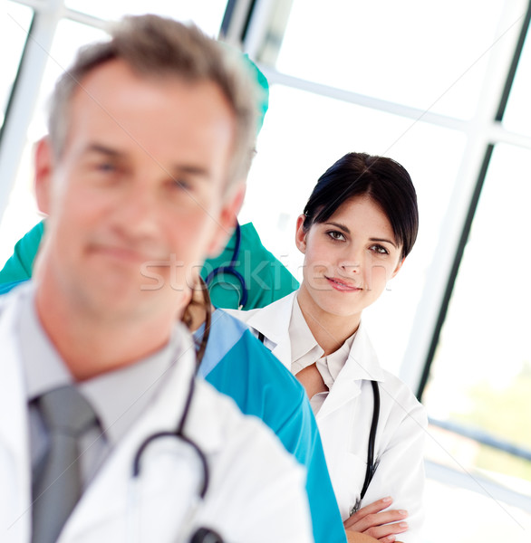 Homme médecin rangée femme bureau Photo stock © wavebreak_media