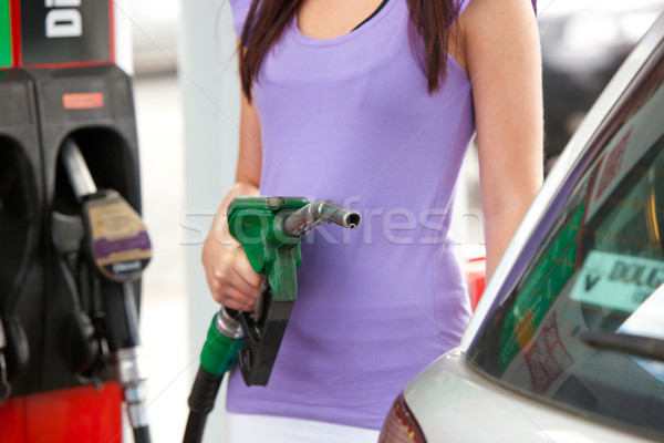 Close-up of a woman refueling her car Stock photo © wavebreak_media