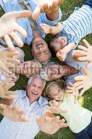Collage of different elderly couples spending time together outside Stock photo © wavebreak_media