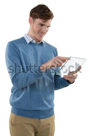 Retrato homem branco internet beleza Foto stock © wavebreak_media