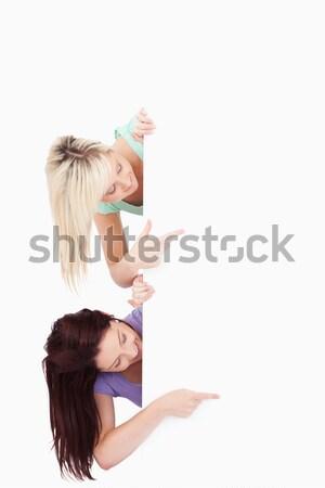 очаровательный женщины вокруг баннер копия пространства Сток-фото © wavebreak_media