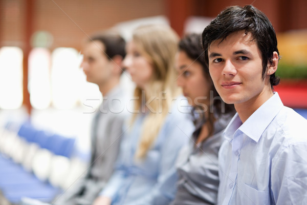 Businessman smiling at the camera during a presentation Stock photo © wavebreak_media