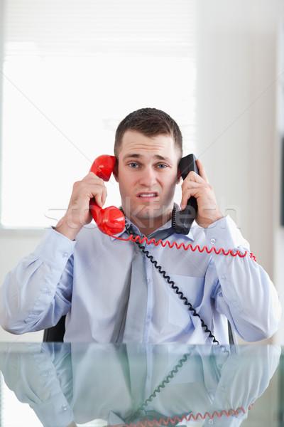 Imprenditore telefono business ufficio telefono Foto d'archivio © wavebreak_media