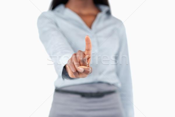 Feminine Finger unsichtbar Schlüssel weiß Stock foto © wavebreak_media