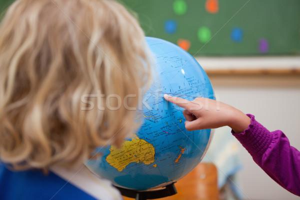 Dito bambina paese compagno di classe mondo Foto d'archivio © wavebreak_media