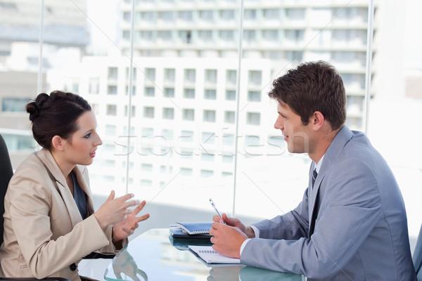 üzleti csapat tárgyal tárgyalóterem üzlet férfi munka Stock fotó © wavebreak_media