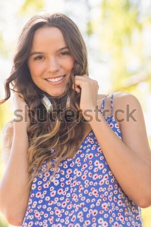 Jonge vrouw mooie zeester schouder strand Stockfoto © wavebreak_media
