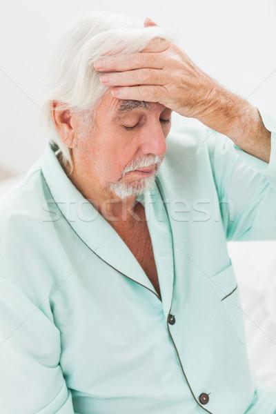 человека температура пожилого домой спальня больным Сток-фото © wavebreak_media