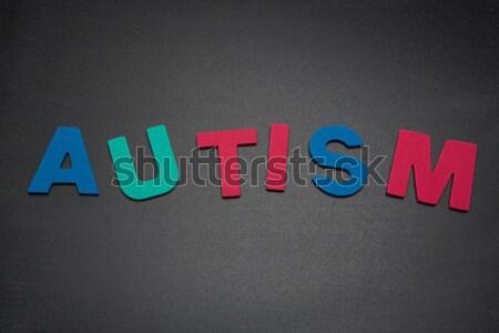 Autismus heraus rosa grünen blau weiß Stock foto © wavebreak_media