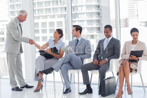 ディレクター 女性実業家 待合室 オフィス ウィンドウ ビジネスマン ストックフォト © wavebreak_media