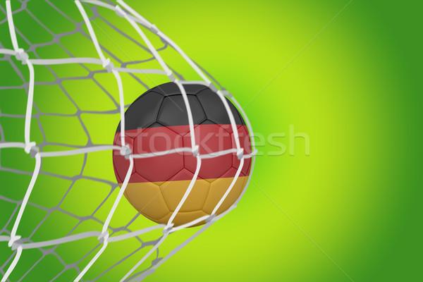 Piłka nożna Niemcy kolory powrót netto zielone Zdjęcia stock © wavebreak_media